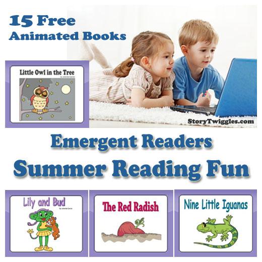 Digital emergent reader books and activities for preschool and kindergarten