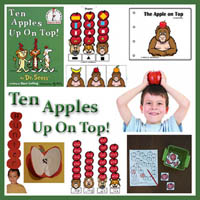 Preschool, Kindergarten Ten Apples Up On Top Activities and Crafts