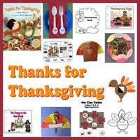 Preschool Kindergarten Thanks for Thanksgiving Activities