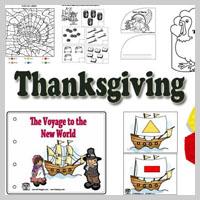 Preschool Kindergarten Thanksgiving Activities and Crafts
