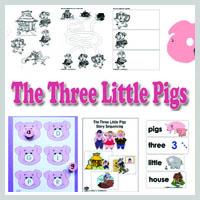 Preschool, Kindergarten, The Three Little Pigs Activities and Crafts