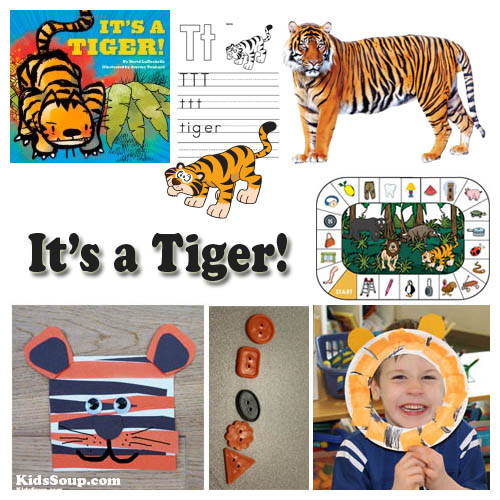 Tigers and jungle animals preschool activities and crafts