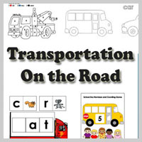 Preschool Kindergarten Cars and Buses Activities and Crafts