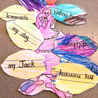Preschool Kindergarten Turkey Feathers Writing