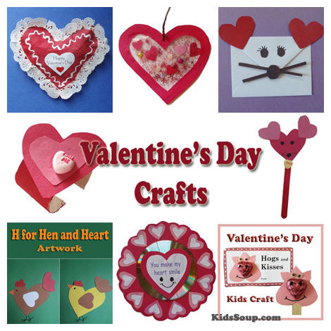 Valentine's Day crafts ideas for preschool and kindergarten