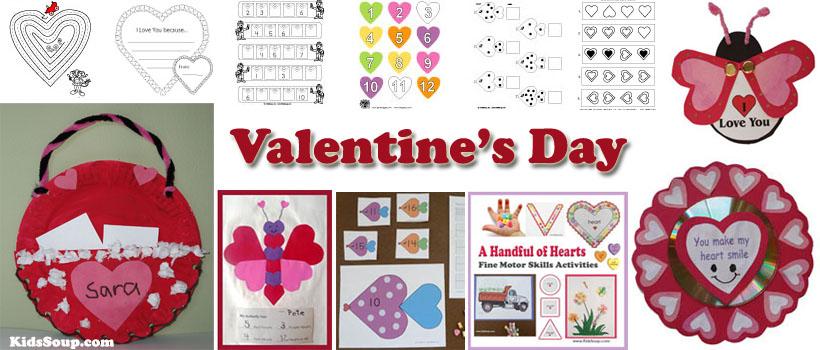 preschool and kindergarten Valentine's Day activities and crafts