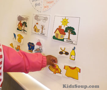 Weather preschool and kindergarten activity