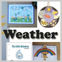 Preschool Kindergarten Weather Activities and Crafts