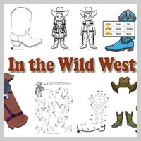 Preschool and kindergarten The Wild West activities and games