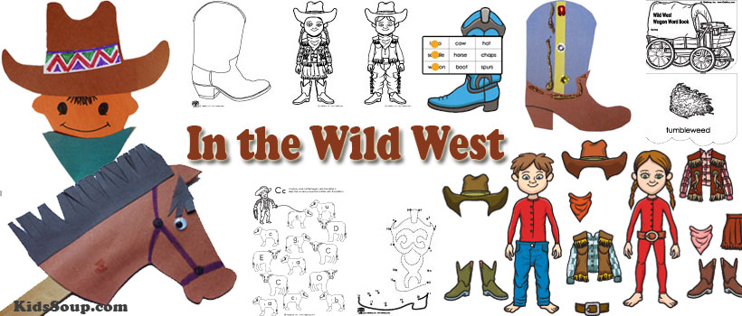 Wild West Activities and Crafts Preschool and Kindergarten