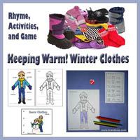 Winter Clothes Games and Activities for preschool and kindergarten