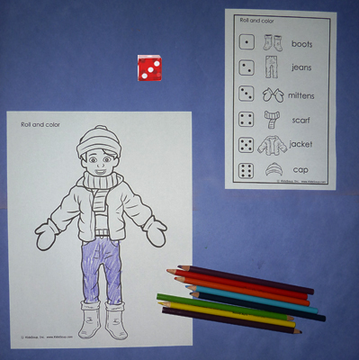 Winter clothes Game for preschool and kindergarten