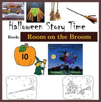 Preschool Kindergarten Broom and Witches Activities