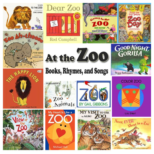 Zoo books, rhymes, and songs for kids