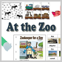 Preschool, Kindergarten, Zoo Animals Activities and Crafts
