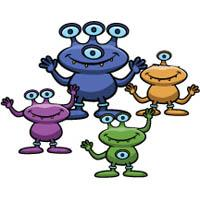 Three little Aliens felt story and printables
