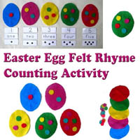 Preschool Easter Eggs Felt Story Rhyme and Activity