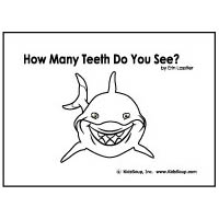 How many teeth? Emergent Reader for preschool and kindergarten