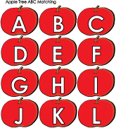 ABC Apples activities and circle games for preschool and kindergarten