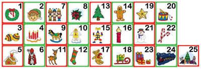 Countdown to Christmas number cards activities and printables