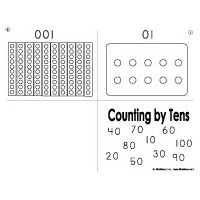 100 Counting by tens booklet, activity, and printables for kindergarten