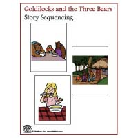Goldilocks and the Three Bears story sequencing activity and printables