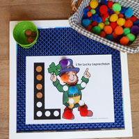 Preschool Kindergarten Lucky the Leprechaun Activity