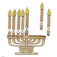 Menorah and Candles Preschool Numbers Activities
