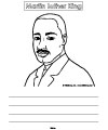 MLK writing prompt for preschool and kindergarten