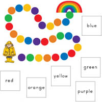 Colors of the Rainbow learning game and preschool activity