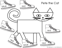 Unusual image within pete the cat shoe printable
