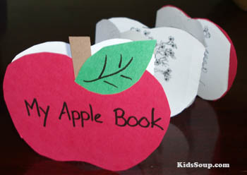 My Apple Book craft and science activity and printables for preschool and kindergarten