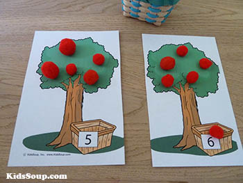 preschool apple activities and games