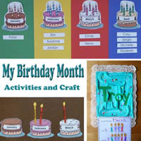 Preschool Kindergarten My Birthday Months Activities and Craft