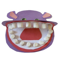 Preschool, Kindergarten Hippo Teeth Craft and Activities