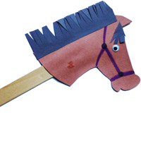 Stick horse craft for preschool and kindergarten
