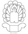 Thanksgiving kids table decoration craft pattern and printables