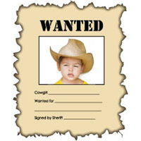 Wanted Poster Craft and Writing Activity