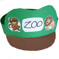 Zookeeper hat craft and activity for preschool and kindergarten