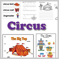 Preschool and kindergarten Circus Activities and Crafts
