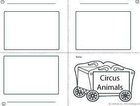 Circus Animals Booklet Writing Activity for kindergarten