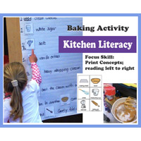Preschool Kindergarten Kitchen Literacy Activity