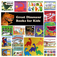Dinosaurs books, rhymes, and songs for preschool and kindergarten