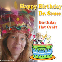 Dr. Seuss silly hat craft and birthday activities