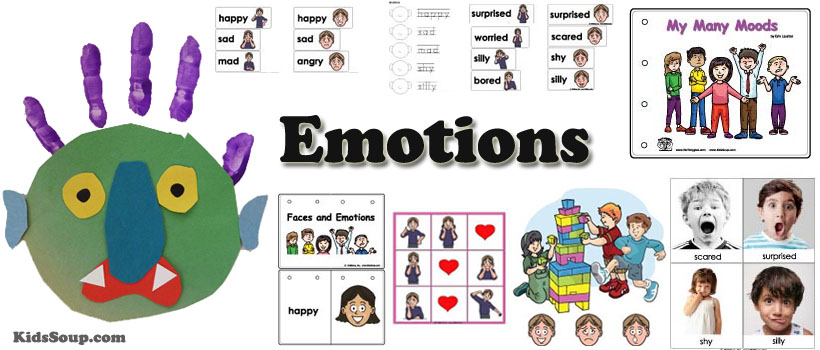 Emotions and feelings preschool activities games and for Emotion art projects