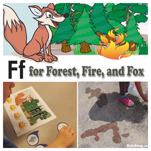 F for Forest, Fox, and Fires preschool activities and lessons