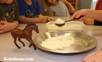 Feed the farm animals counting game and fine motor skills activity