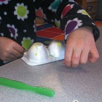 Preschool Cleaning Teeth Sensory Activity