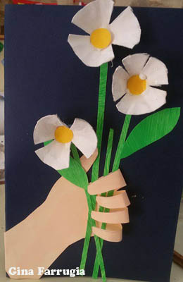 Mother's Day preschool flower craft and poem