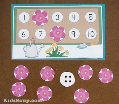 flower math number game